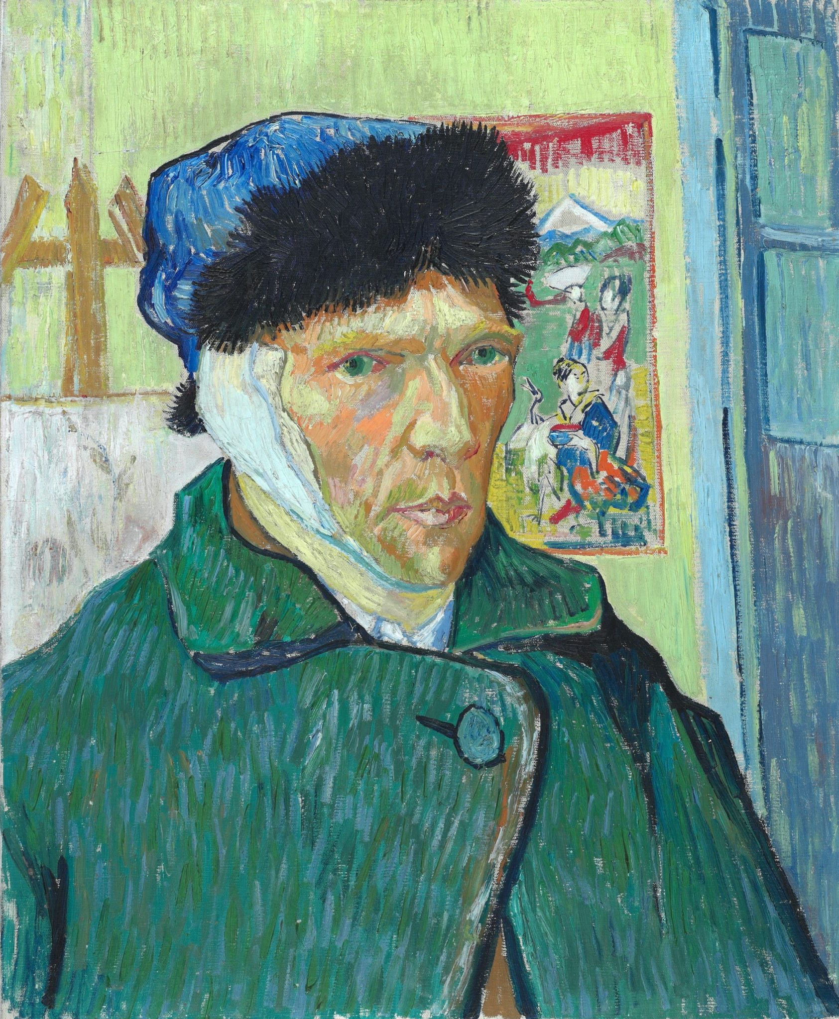 Vincent Van Gogh with bandaged ear
