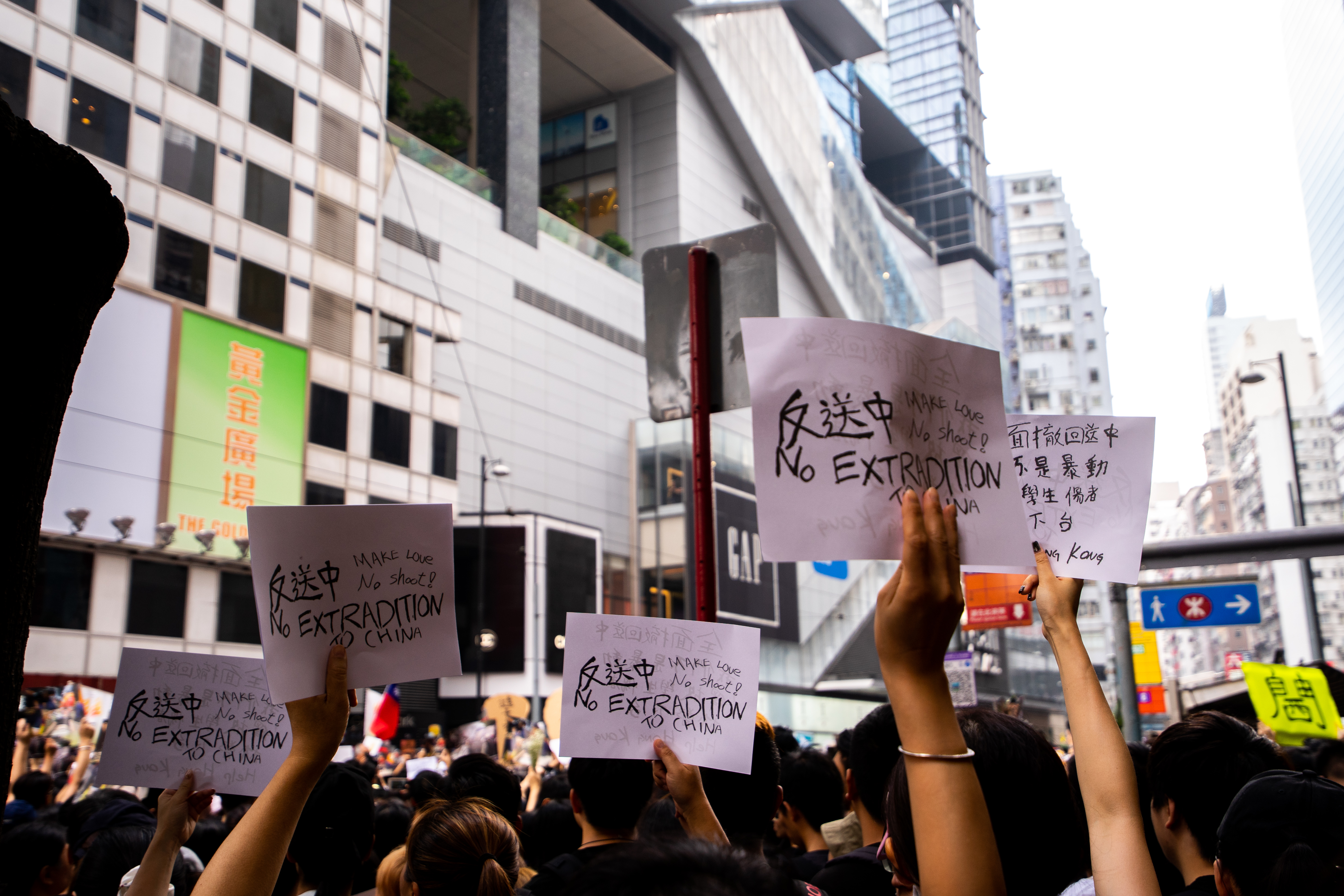 June 9 Hong Kong protest signs