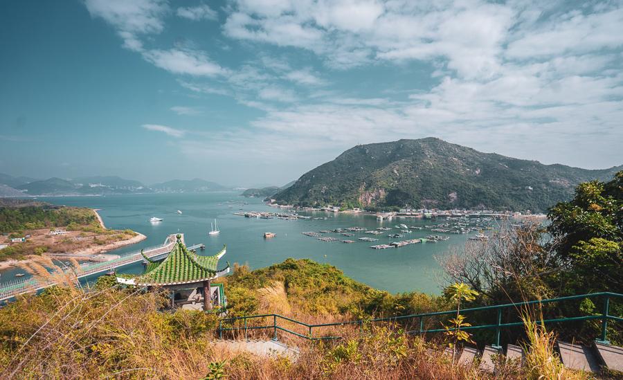 A panoramic view of Lamma Island Hong Kong