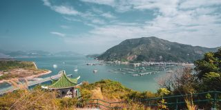A panoramic view of Lamma Island Hong Kong